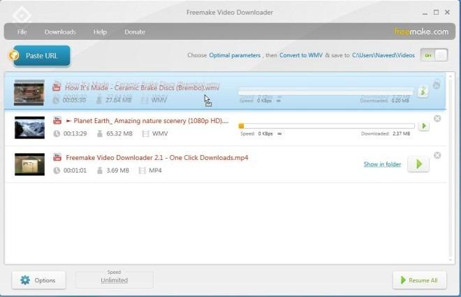 Freemake Video Downloader_Download Queue