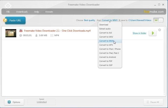 Freemake Video Downloader_WMV Support