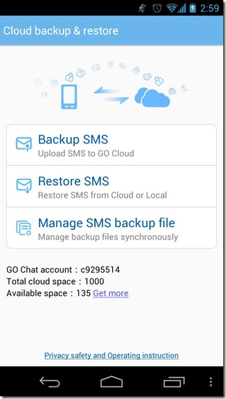 GO-SMS-4.6-Android-Cloud-Backup