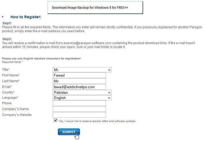 Image Backup for Windows 8 - Download