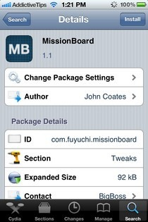 MissionBoard Cydia