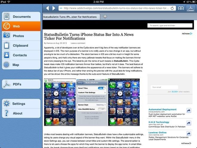 PDF PROvider Browser