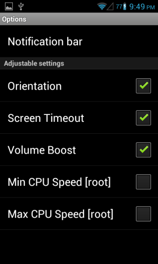 PerApp Settings Android