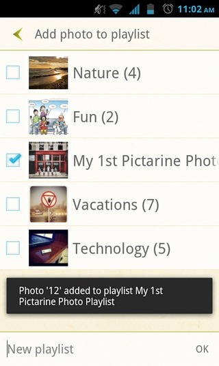 Pictarine-Android-Playlists