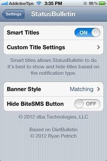StatusBulletin Settings