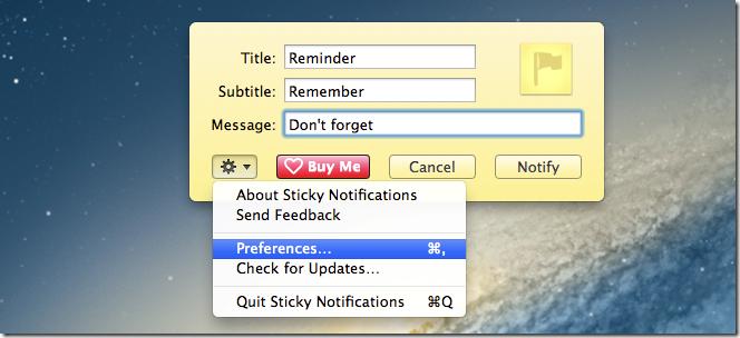Sticky Notifications
