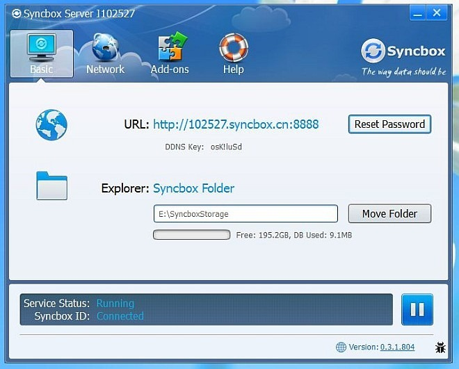 Syncbox server_control panel