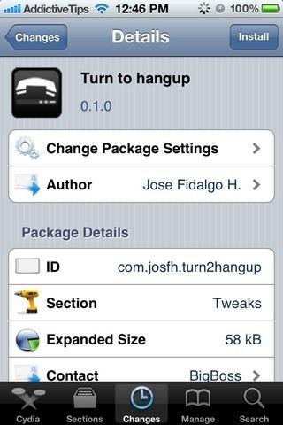 Turn to hangup Cydia