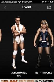WWE iOS Event Stars