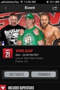 WWE iOS Event