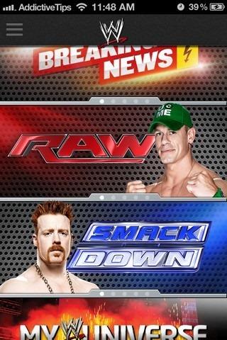 WWE iOS Home