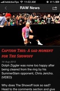 WWE iOS News