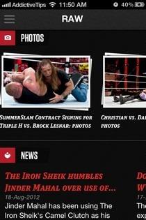 WWE iOS Photos