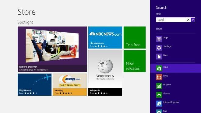 Windows 8 Store Search