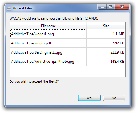 Accept Files