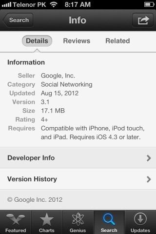 App Store App Details iPhone iOS 6