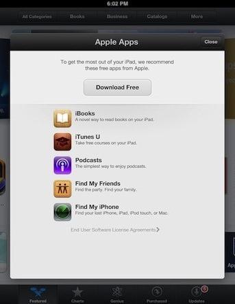 App Store Apple App Recommendations iPad iOS 6