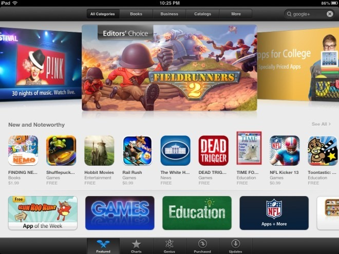 App Store Featured 1 iPad iOS 6