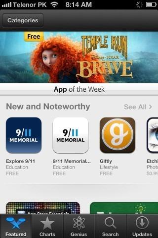 App Store Featured iPhone iOS 6