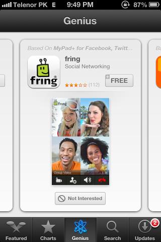 App Store Genius iPhone iOS 6