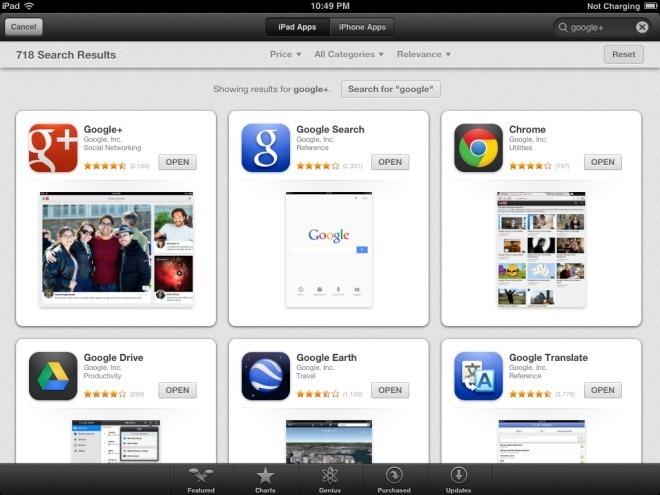 App Store Search iPad iOS 6