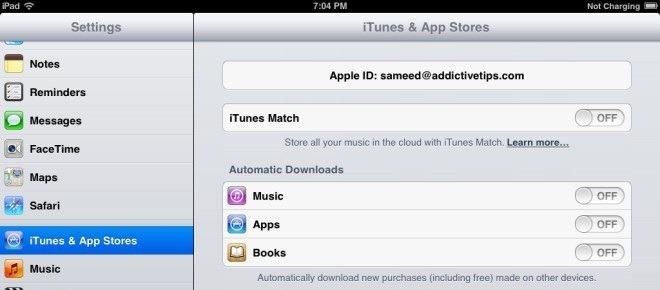 App Store Settings iPad iOS 6