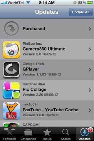 App Store Updates iPhone iOS 5