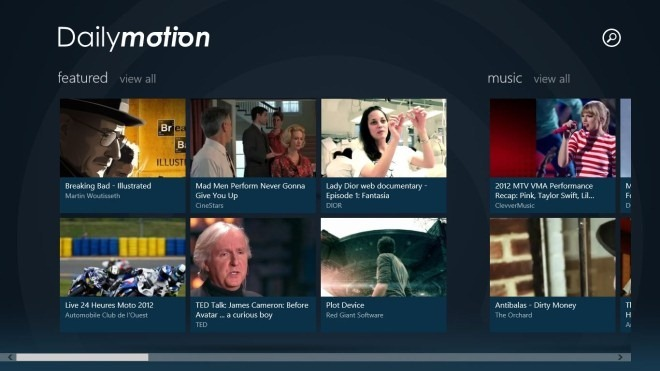 Dailymotion_Windows 8