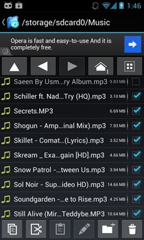 Exlorer  File Manager - Selected