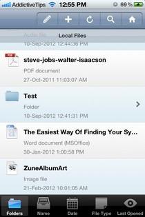 FileApp Pro iOS File List