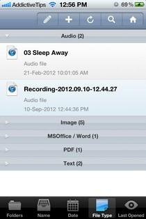 FileApp Pro iOS Sort