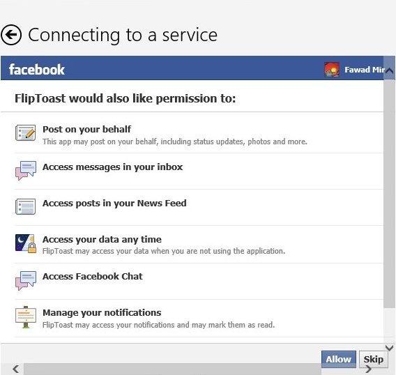 FlipBoard Facebook