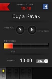 Goal Go Flag iOS Task Progress