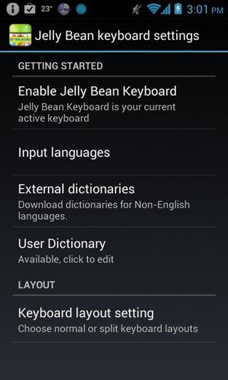 Keyboard - Jelly Bean