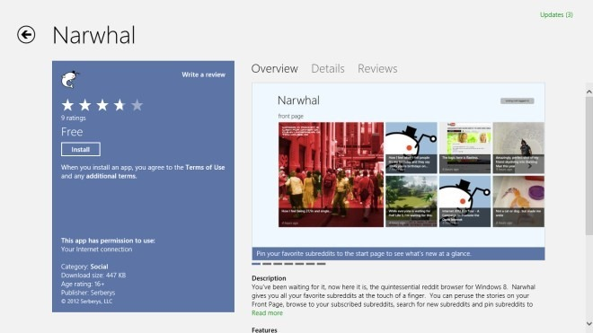 Narwhal_Windows Store