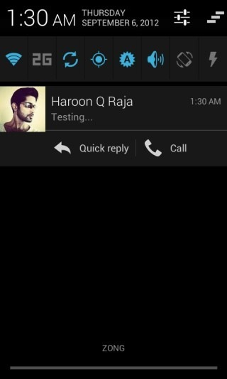 New CM10 SMS Notification Expanded