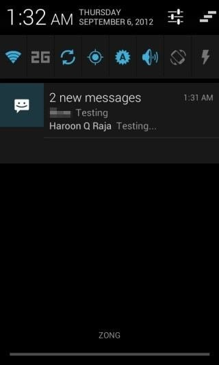 New CM10 SMS Notification Multiple