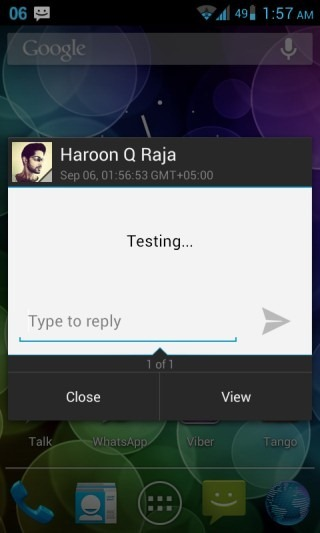 New CM10 SMS Quick Reply