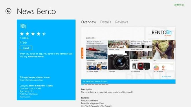 News Bento_Windows Store