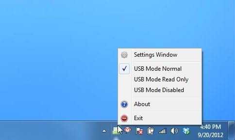 Phrozen Safe USB_System Tray