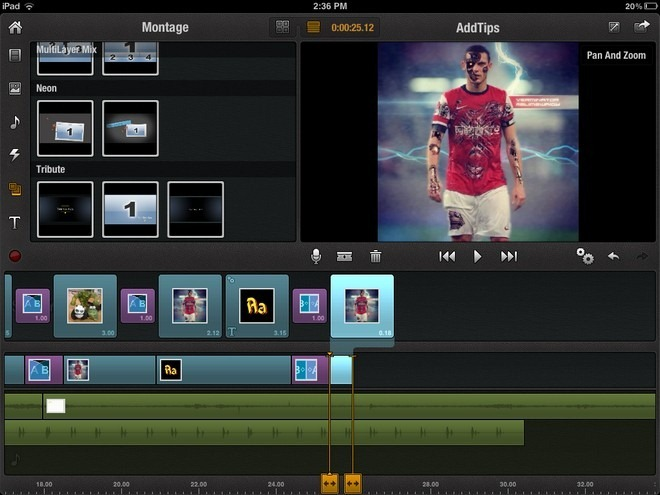 Pinnacle Studio iPad Edit