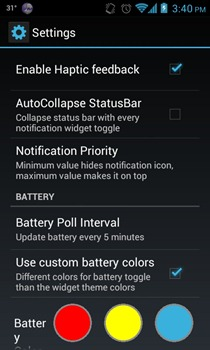 Power Toggles - Settings
