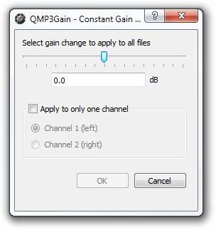 QMP3Gain - Constant Gain Change