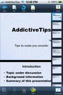 Smart Office 2 iOS Powerpoint