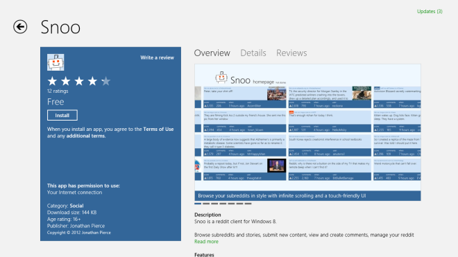 Snoo_Windows Store