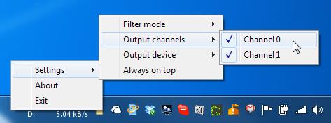 Sound Lock Output Channels