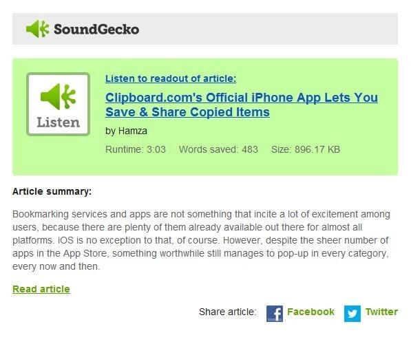 SoundGecko WP7 Mail