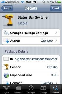 Status Bar Switcher Cydia