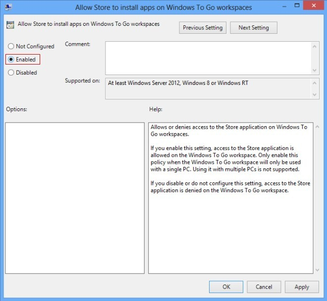 Store Enable Window To Go_Step 4