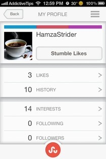 StumbleUpon iOS DNA